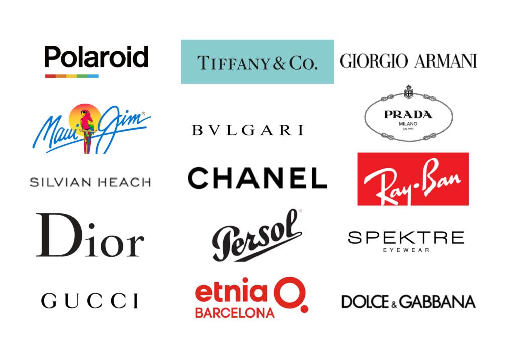 occhiali da sole shop loghi brand