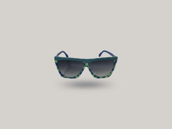 occhiali da sole vintage silhouette verdi e blu