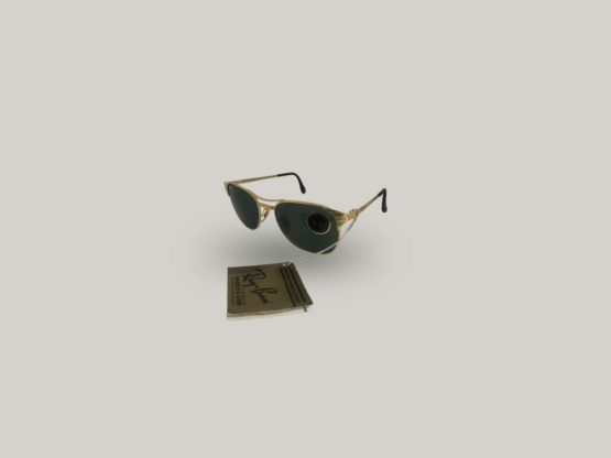 occhiali vintage uomo con lenti in vetro rayban signet