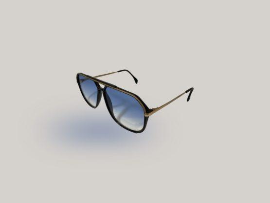 silhouette m2701 vintage occhiali da sole uomo lenti blu